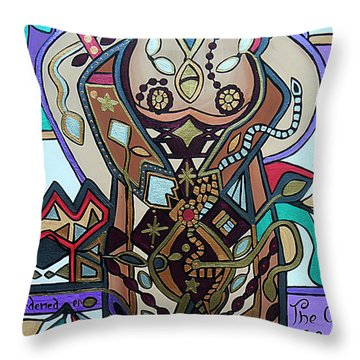 The Gardener Throw Pillow by Barbara St Jean