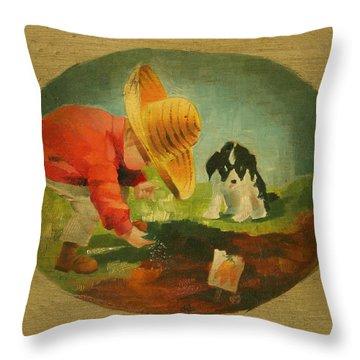 The Gardeners Throw Pillow