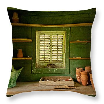 The Gardener's Shed Throw Pillow