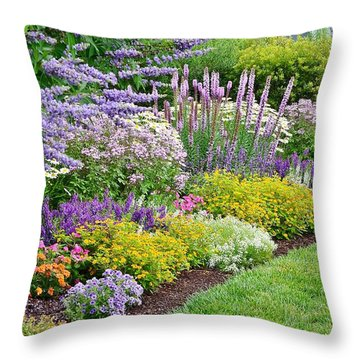 The Gardens Of Bethany Beach Throw Pillow