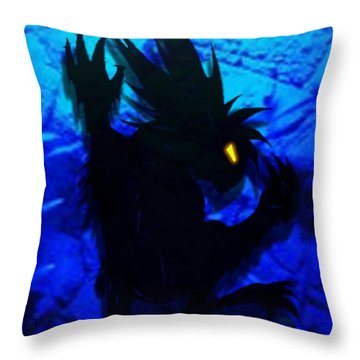 Throw Pillow featuring the mixed media The Gargunny by Shawn Dall