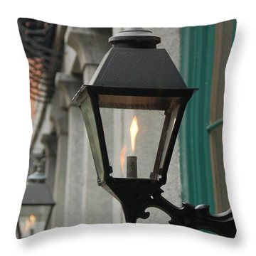Throw Pillow featuring the photograph The Gas Light by Patrick Shupert