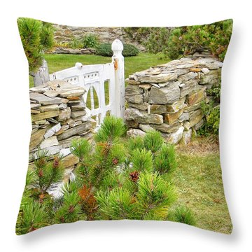 The Gate By The Sea Throw Pillow by Jean Goodwin Brooks