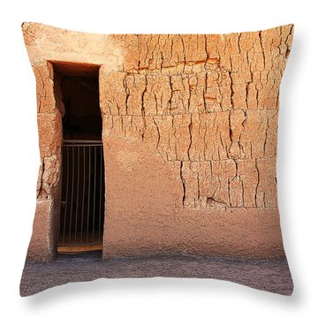 The Gate Throw Pillow by Joe Kozlowski