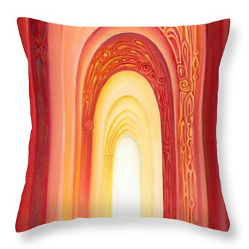 The Gate Of Light Throw Pillow