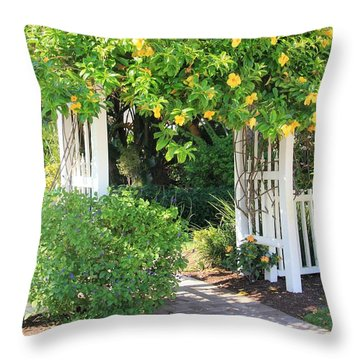 Throw Pillow featuring the photograph The Gate by Rosalie Scanlon