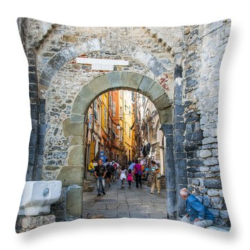 The Gate To Old Town Throw Pillow