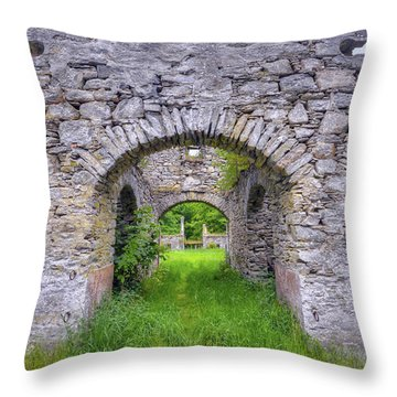 The Gate To The Ruins Throw Pillow