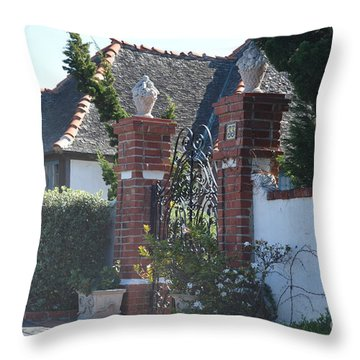The Gated Castle Throw Pillow