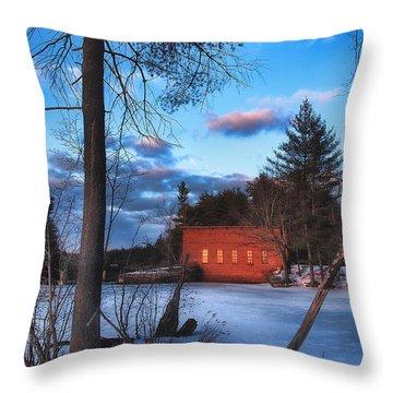 The Gatehouse Throw Pillow by Joann Vitali