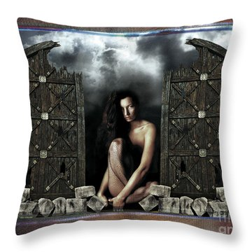 The Gates  Throw Pillow by Mauro Celotti