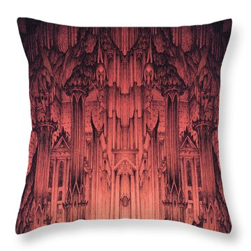 The Gates Of Barad Dur Throw Pillow
