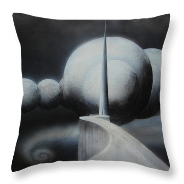 Throw Pillow featuring the painting The Gateway by Tim Mullaney