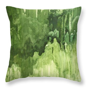The Gathering Throw Pillow by Elizabeth Carr