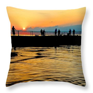 The Gathering Spot Throw Pillow by Frozen in Time Fine Art Photography