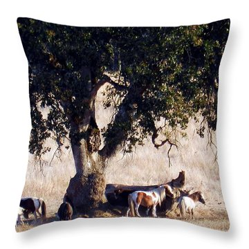 The Gathering Tree Throw Pillow
