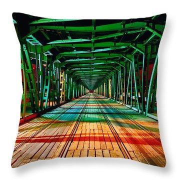 The Gdanski Bridge Throw Pillow