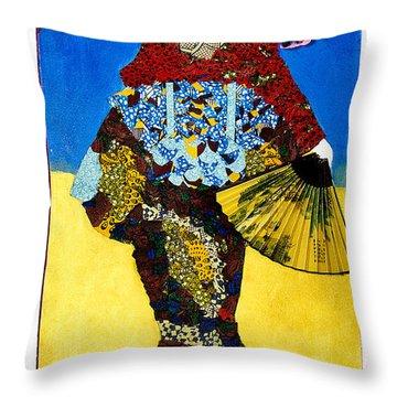 The Geisha Throw Pillow