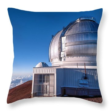 Throw Pillow featuring the photograph The Gemini Observatory by Jim Thompson