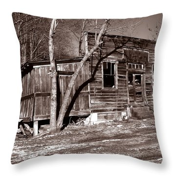 Throw Pillow featuring the photograph The General Store by Craig T Burgwardt
