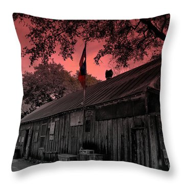 The General Store In Luckenbach Texas Throw Pillow by Susanne Van Hulst