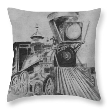 The General - Train - Big Shanty Kennesaw Ga Throw Pillow