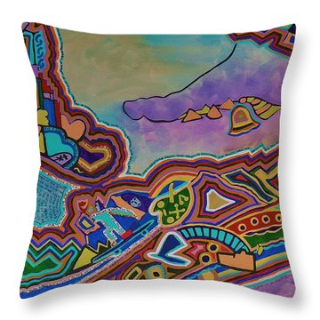 The Genie Is Out Of The Bottle Throw Pillow by Barbara St Jean