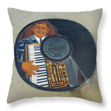 The Gennett Walk Of Fame - Lawrence Welk Throw Pillow
