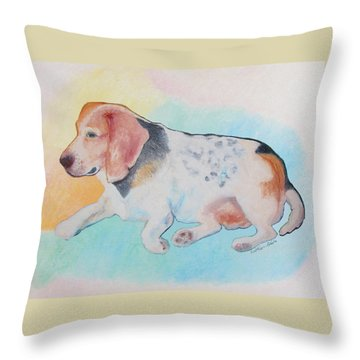 The Gentle Leader Throw Pillow