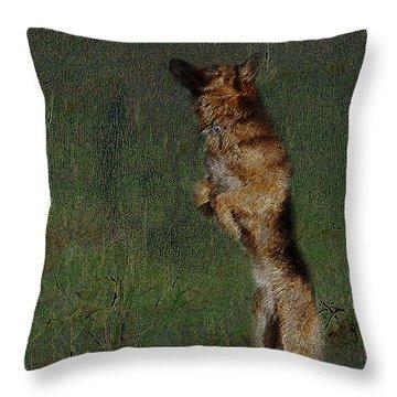 The German Shepherd Great Dog Throw Pillow by Manjot Singh Sachdeva