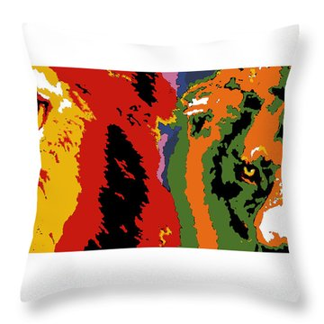 The Ghost And The Darkness Throw Pillow