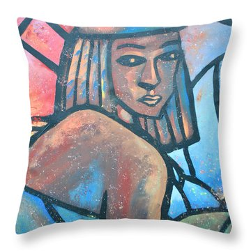The Ghost Of Happiness Throw Pillow