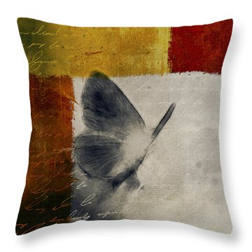 The Giant Butterfly And The Moon - S09-22cbrt Throw Pillow by Variance Collections