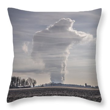 The Giant Cloud Throw Pillow by Thomas Young