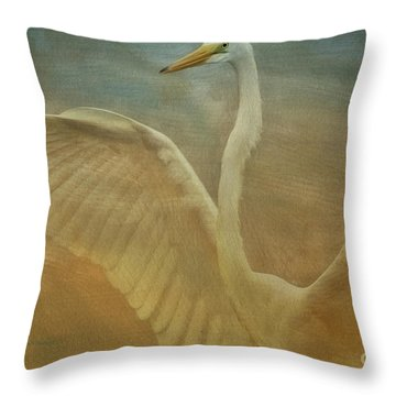 The Giant E Throw Pillow by Deborah Benoit
