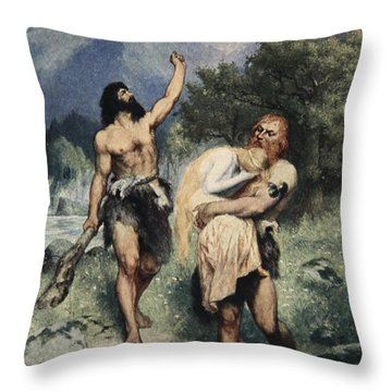 The Giants Bore Freia Away, From The Throw Pillow by Ferdinand Leeke