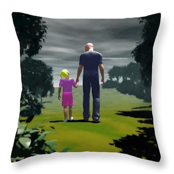 The Gift Of Being 'daddy' Throw Pillow