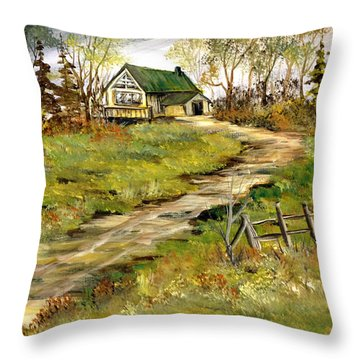 The Gilbert's House Throw Pillow