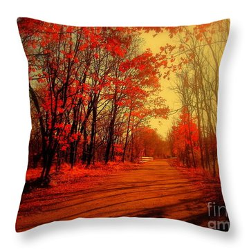 The Ginger Path Throw Pillow