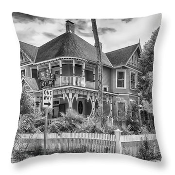 Throw Pillow featuring the photograph The Gingerbread House by Howard Salmon