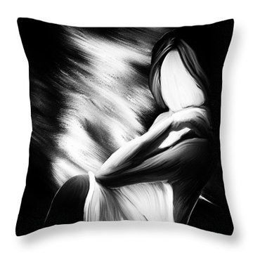 The Girl In My Room Throw Pillow by Bob Orsillo