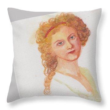 The Girl In The Garden Throw Pillow