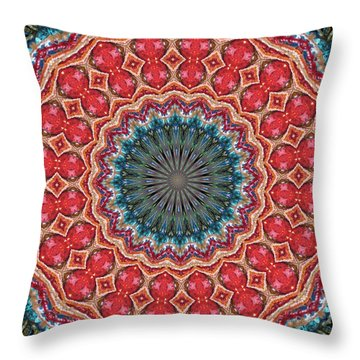 The Girl With Kaliedoscope Eyes Throw Pillow by Alec Drake