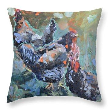 The Girls Of Green Hill Farm Throw Pillow