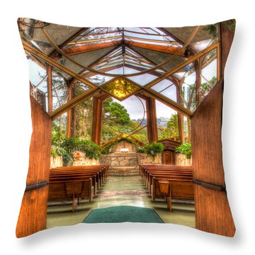 The Glass Church Throw Pillow by Heidi Smith