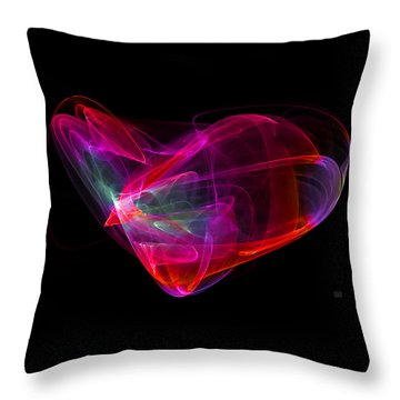 The Glass Heart Throw Pillow