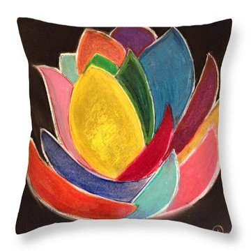 The Glass Lotus Throw Pillow by Renee Michelle Wenker