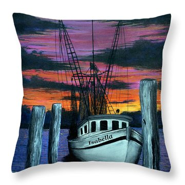 The Gloaming Throw Pillow by Jeff McJunkin