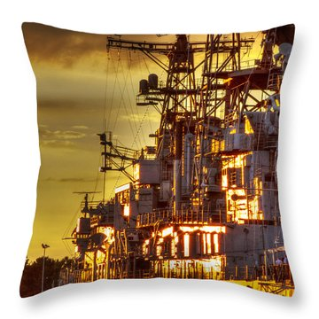 The Glory Days -  Uss Sullivans Throw Pillow by Darleen Stry
