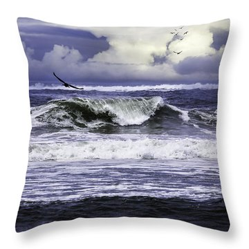 The Glory Of Morning On The Oregon Coast Throw Pillow